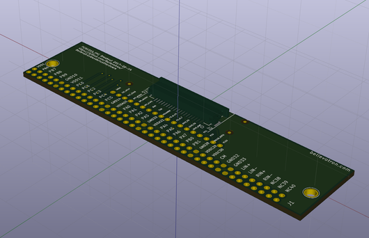PCB1010, 40-pin Axoloti to 20 pin FFC connector