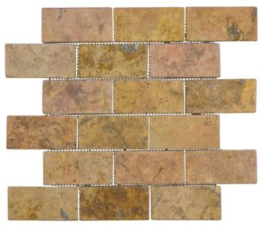 4X2 TUMBLED PEACH TRAVERTINE