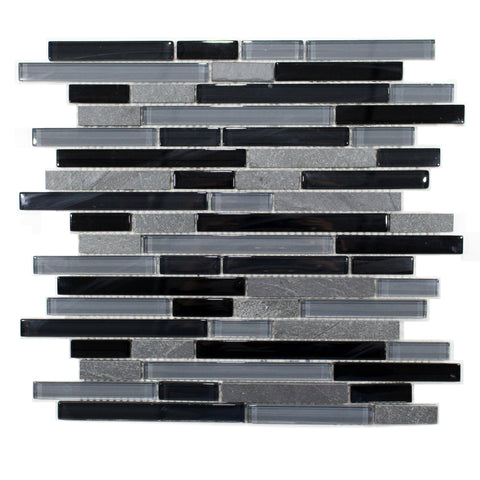 35-025 BLISS BLACK TIMBER LINEAR BLEND MOSAICS