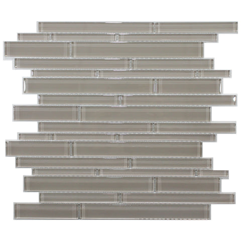 35-095 BLISS ELEMENT EARTH  RANDOM STRIP GLASS MOSAIC