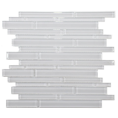 35-057 BLISS ELEMENT ICE RANDOM STRIP GLASS MOSAIC