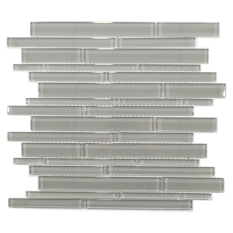 35-059 BLISS ELEMENT SMOKE RANDOM STRIP GLASS  MOSAICS