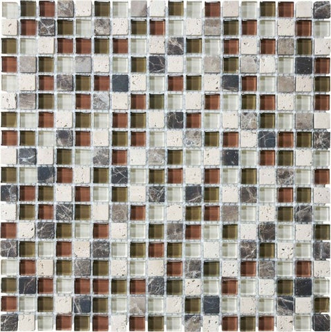 "Bliss Glass Mosaic - Cabernet 5/8"" x 5/8"""
