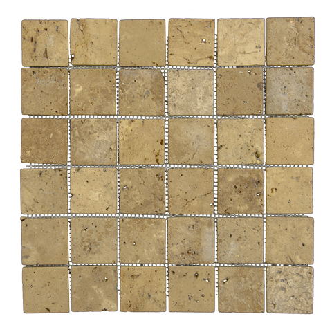 "2"" X 2"" Chocolate - Travertine Mosaic"