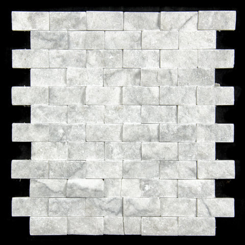 "1"" X 2"" Carrara White - Quartzite Mosaic"