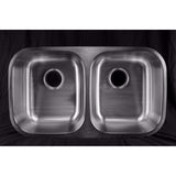 BRONX 50/50 DOUBLE BOWL STAINLESS STEEL SINK 18 GAUGE