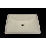 Bisque Scoop Undermount Porcelain Sink