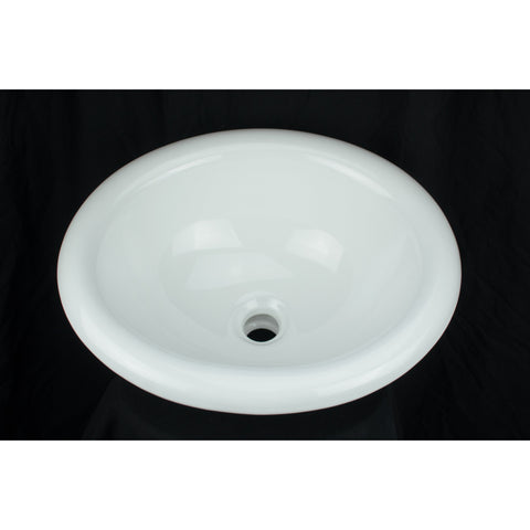 Bisque Derby Drop-In Porcelain Sink