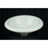 White Derby Drop-In Porcelain Sink
