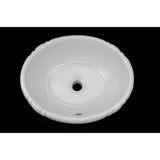 White Tulip Drop-In Porcelain Sink