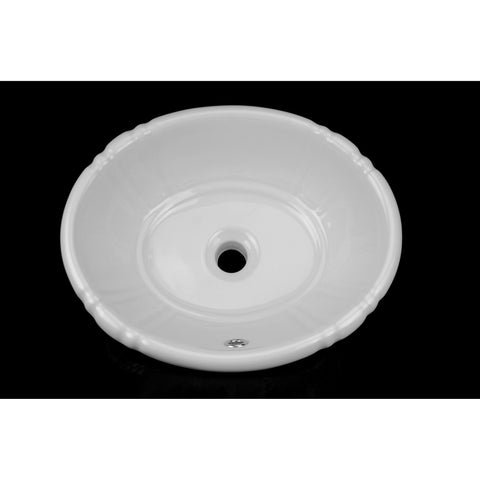 Bisque Tulip Drop-In Porcelain Sink