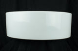 White Rim Vessel Porcelain Sink