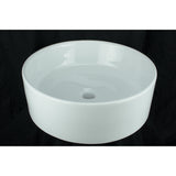 Rim - Vessel Porcelain Sink