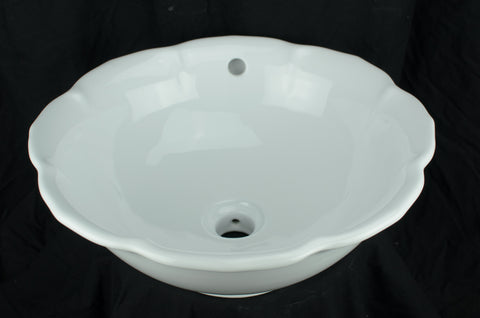 Bisque Bloom - Vessel Porcelain Sink
