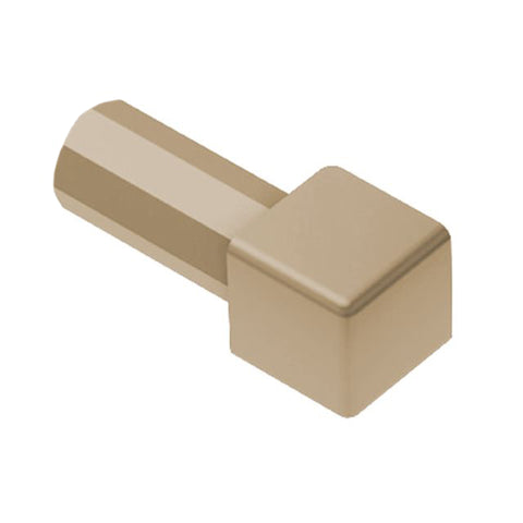 "SCHLUTER E/PQ100HB PVC QUADEC 3/8"" LIGHT BEIGE OUTSIDE CORNER"