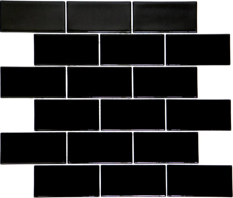 Black 2 x 4 Cover Quick Glass Mosaic