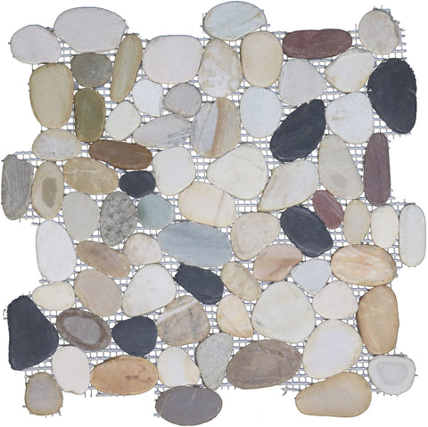 River Flat Pebbles Mosaic