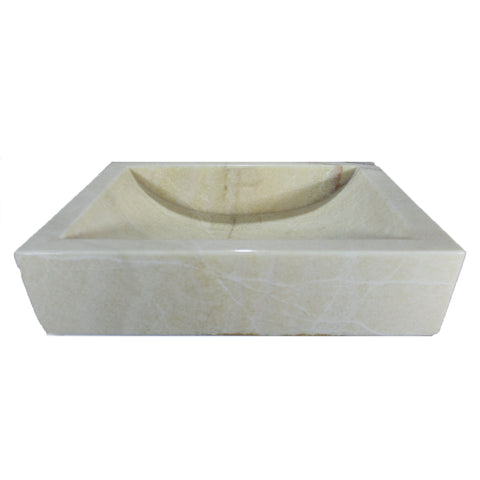 LIGHT ONYX BOX SINK 20 X 14 X 5