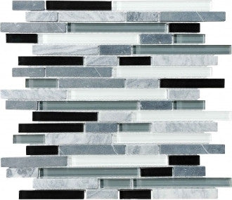 Bliss Glass Mosaic - Midnight Linear Blend