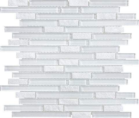 Bliss Glass Mosaic - Norwegian Ice Linear Blend