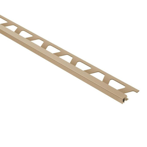 "SCHLUTER PQ100HB PVC QUADEC 3/8"" LIGHT BEIGE PROFILE"