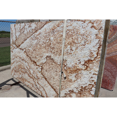 Verniz Tropical 3CM Granite 66X110  50.42 SF/Slab | Lot #: S500125