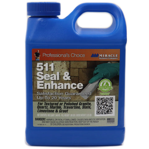 511Q SEAL & ENHANCE QUART SEALER FOR NATURAL STONE AND GROUT