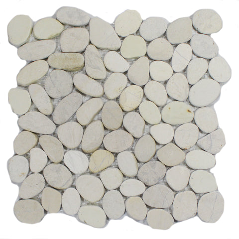 76-462 BLISS SERENITY IVORY FLAT PEBBLES