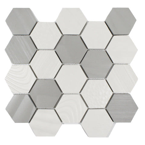 "SURFACE BLEND 3"" HEXAGON MOSAIC"