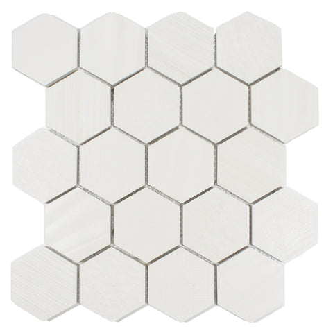 "SURFACE WHITE 3"" HEXAGON MOSAIC"