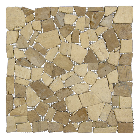 Tutsi Mocha Chocolate - Travertine Mosaic