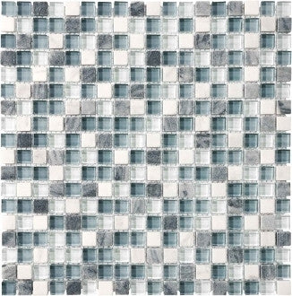 "Bliss Glass Mosaic - Waterfall 5/8"" x 5/8"""