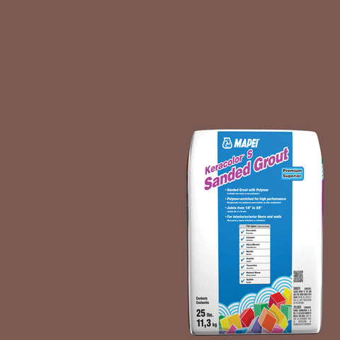 Mapei Sanded Grout - Brick Red 25 lb
