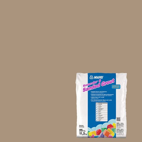 Mapei Sanded Grout - Chamois 25 lb