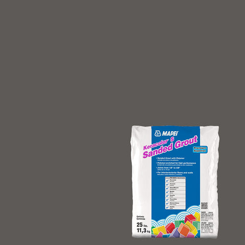 Mapei Sanded Grout - Charcoal 25 lb