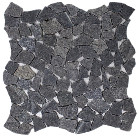 CHARCOAL FLAT BLACK PEBBLES 16X16