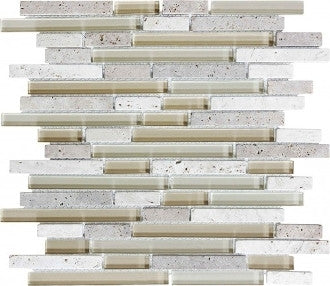 Bliss Glass Mosaic - Creme Brulee Linear Blend