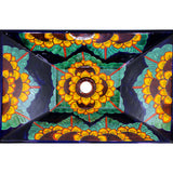 TALAVERA VESSEL SINK RECTANGLE GIRASOL AZUL COBALTO