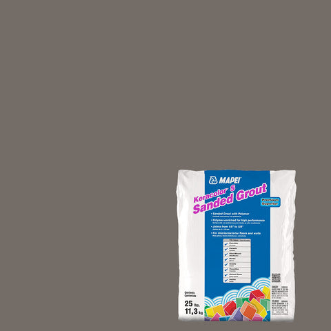 Mapei Sanded Grout - Gray 25 lb