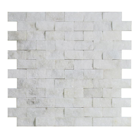 2X1 SPLIT FACE BLANCO MARBLE