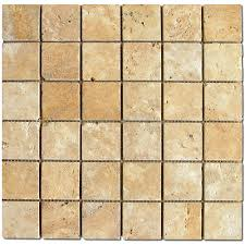 "2""X2"" TUMBLED GOLDEN SIENNA TRAVERTINE"