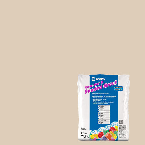 Mapei Sanded Grout - Light Almond 25 lb