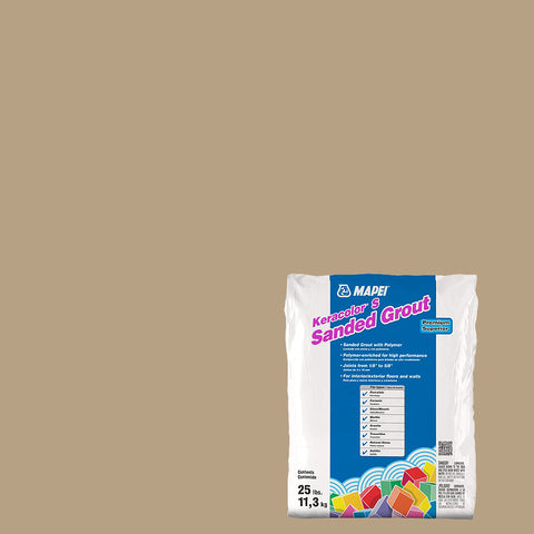 Mapei Sanded Grout - Pale Umber 25 lb