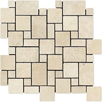 MINI PATRON TUMBLED PAREDON ENSAMBLE TRAVERTINE