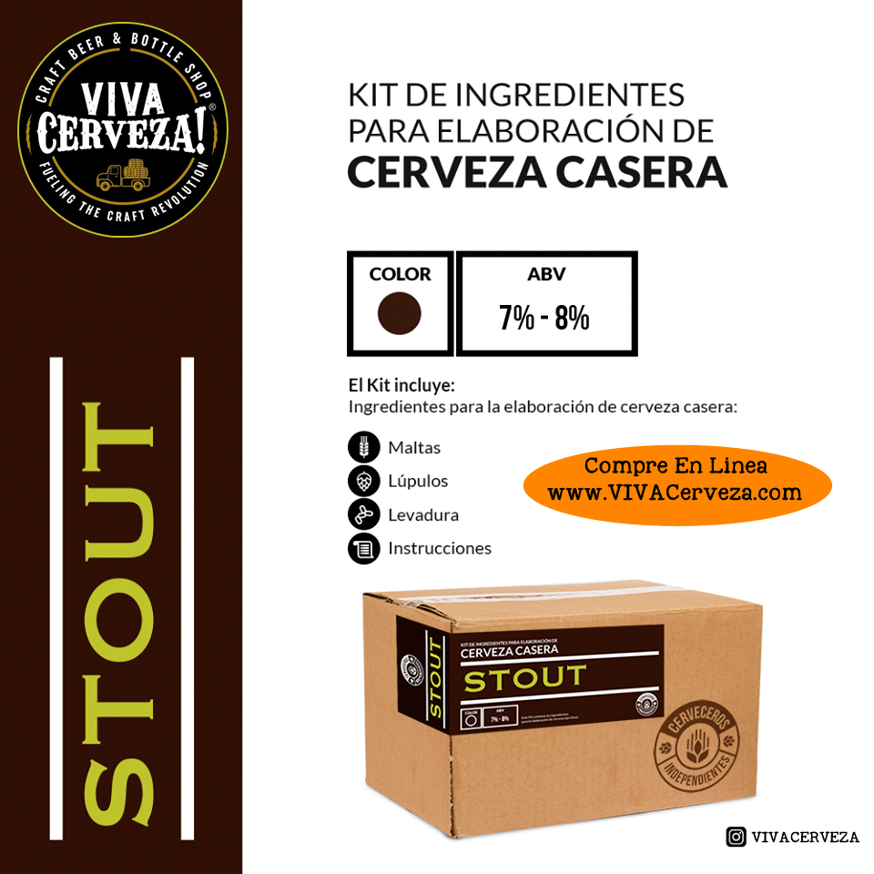 STOUT KIT - Homebrew Beer Kit, Elaboracion De Cerveza Casera