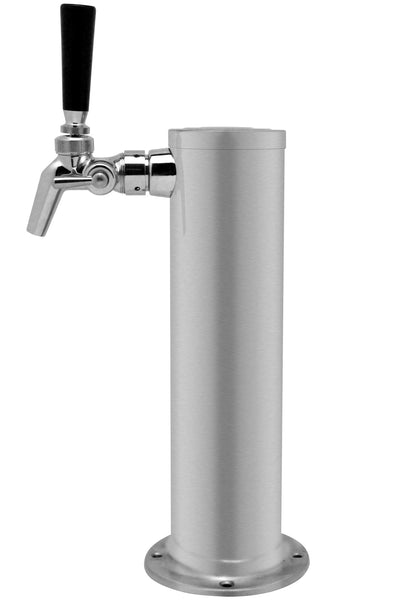 Single Faucet Brushed Stainless Beer Tower Perlick 650SS Stainless Faucet, Torre 1 Grifo