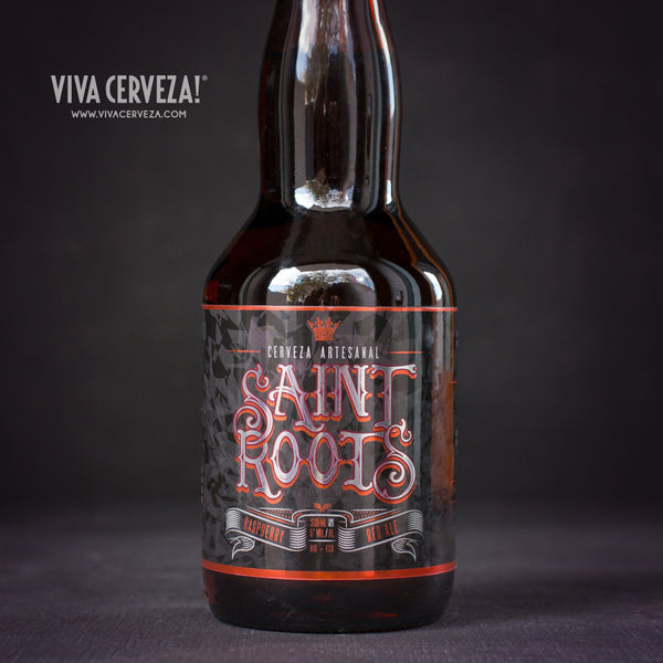 Saint Roots Raspberry Red Ale - 330ml Botella Cerveza Artesanal Craft Beer Ecuador - %