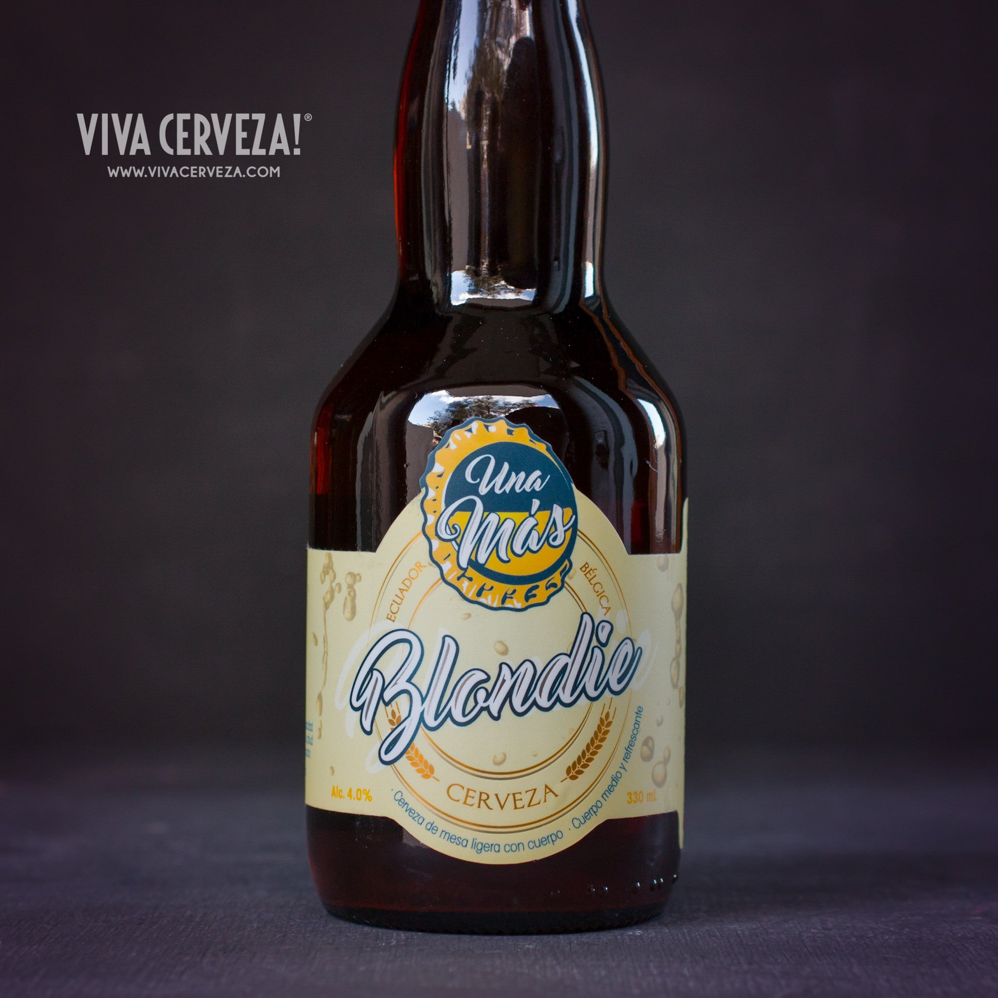 Una Mas Blondie - 330ml Botella Cerveza Artesanal Craft Beer Ecuador - %