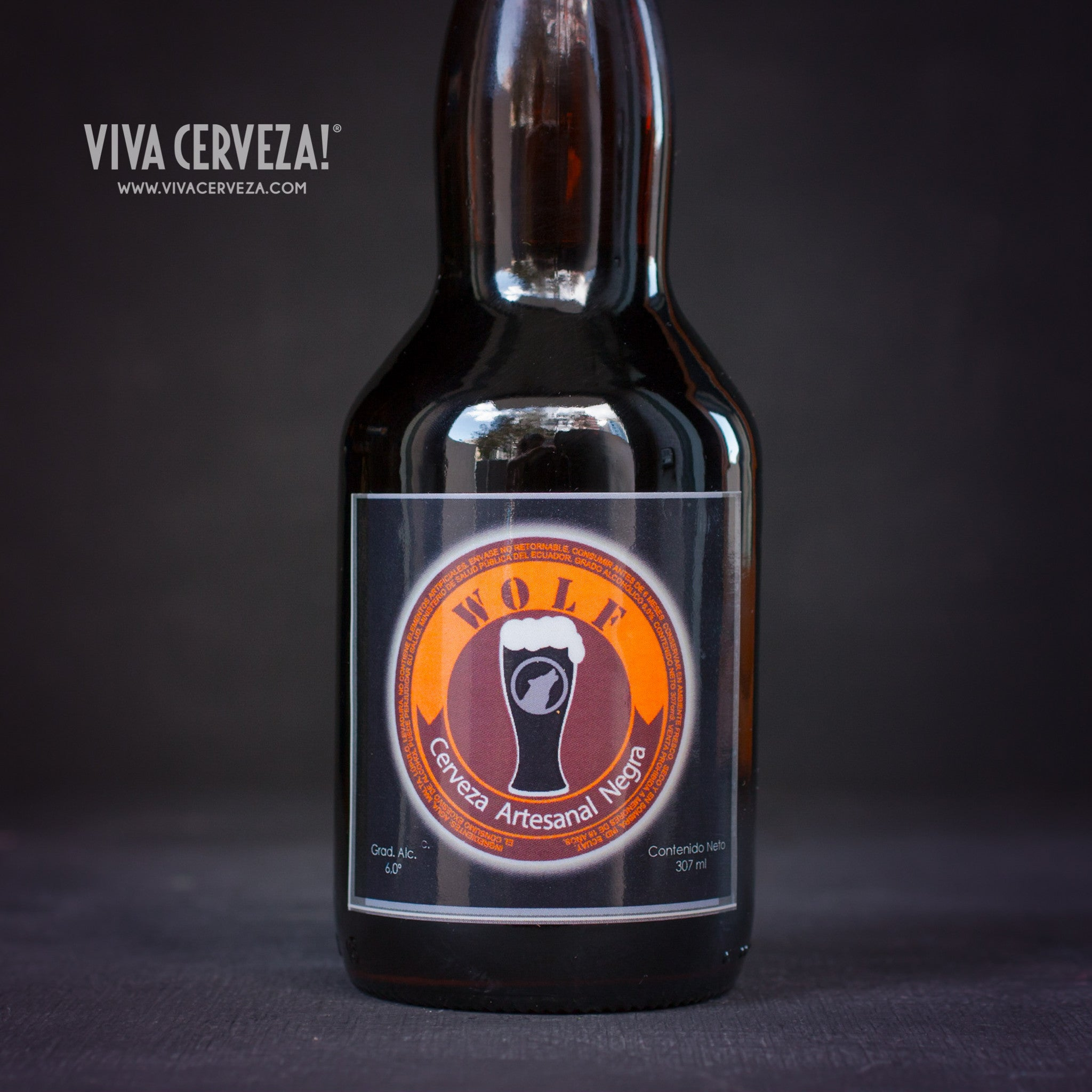 Wolf Negra Stout - 307ml Botella Cerveza Artesanal Craft Beer Ecuador - %