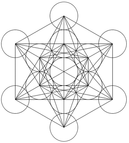 metatron s cube sacred geometry transformational necklace light